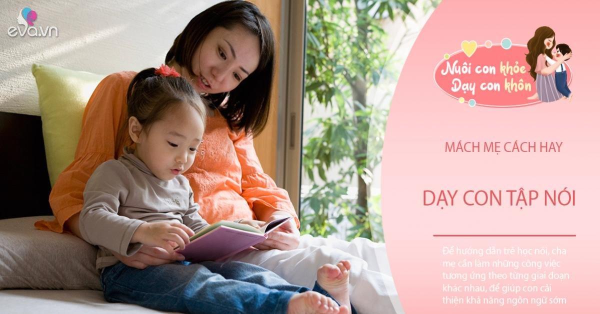 Trẻ IQ cao thường nói muộn? Đừng quá tin, 7 bước mẹ dạy bé biết nói sớm
