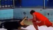 Cá sấu ngoạm tay rồi quật ngã người đàn ông ngay trên sân khấu