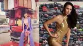 """Khánh Vân tuyên bố đem 200 outfits đi Miss Universe, đại diện Indonesia liền """"đàn áp"""" với container 400 bộ"""