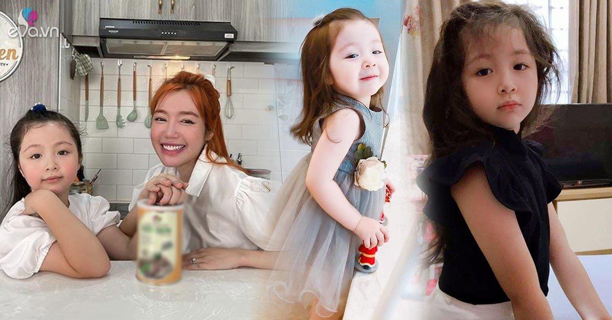 """Gương mặt tròn xoe khác mẹ, nhưng con gái Elly Trần lại hưởng đặc điểm """"vạn người mê"""""""