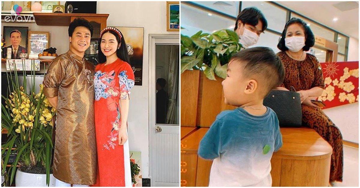 Hòa Minzy được mẹ chồng thương, đi làm sớm gửi con cho bà chăm bẵm cẩn thẩn