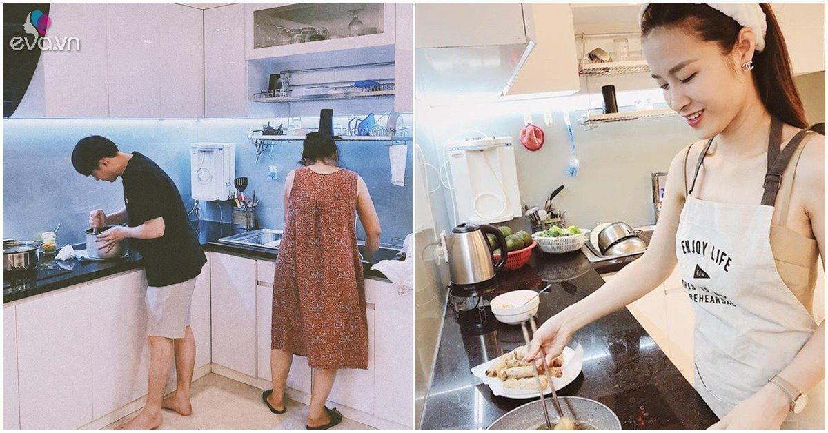 Nhà Celeb: Phòng bếp của Tăng Thanh Hà, Đông Nhi và dàn sao Việt gọn gàng, sang trọng thấy mê