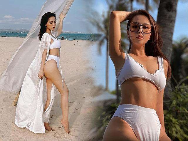 Không hổ danh hotgirl Sài Thành hot một thời, chị dâu Bảo Thy khoe dáng 2 con đẹp ngất ngây