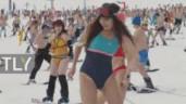 1.700 nam thanh nữ tú mặc đồ bơi trượt tuyết ở Siberia