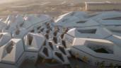 Công trình kiến trúc mạng tinh thể độc đáo giữa sa mạc