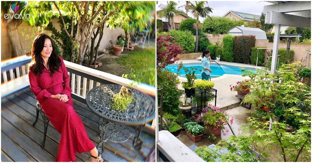 Nhà Celeb: Mẹ ruột chăm vườn cho Hồng Đào, trồng hoa, cây xanh yên bình