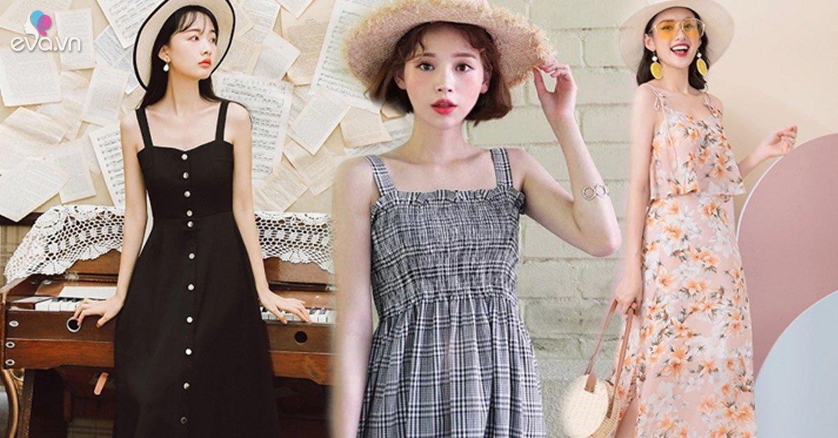 4 mẫu váy hai dây vừa xinh vừa mát, các nàng sắm nhanh còn kịp kỳ nghỉ lễ