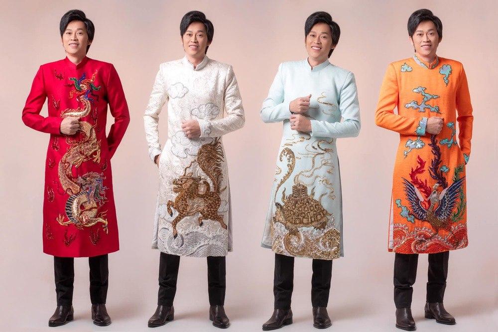 Lâu lắm mới thấy Hoài Linh diện áo dài giả gái, đọ dáng nuột hơn cả Lê Giang - 12