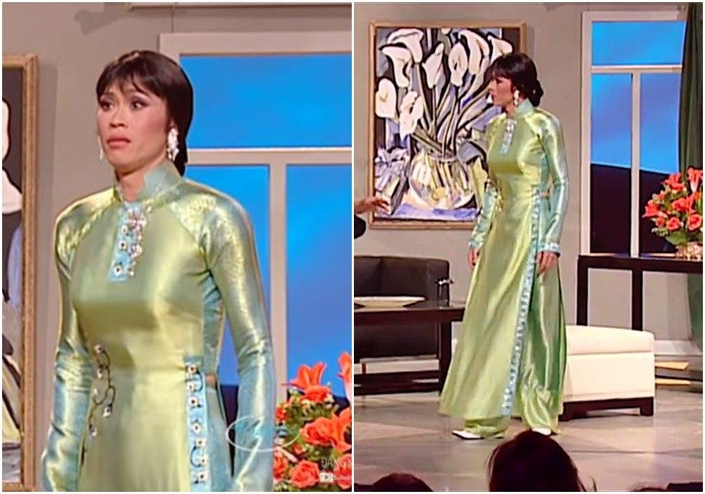 Lâu lắm mới thấy Hoài Linh diện áo dài giả gái, đọ dáng nuột hơn cả Lê Giang - 6
