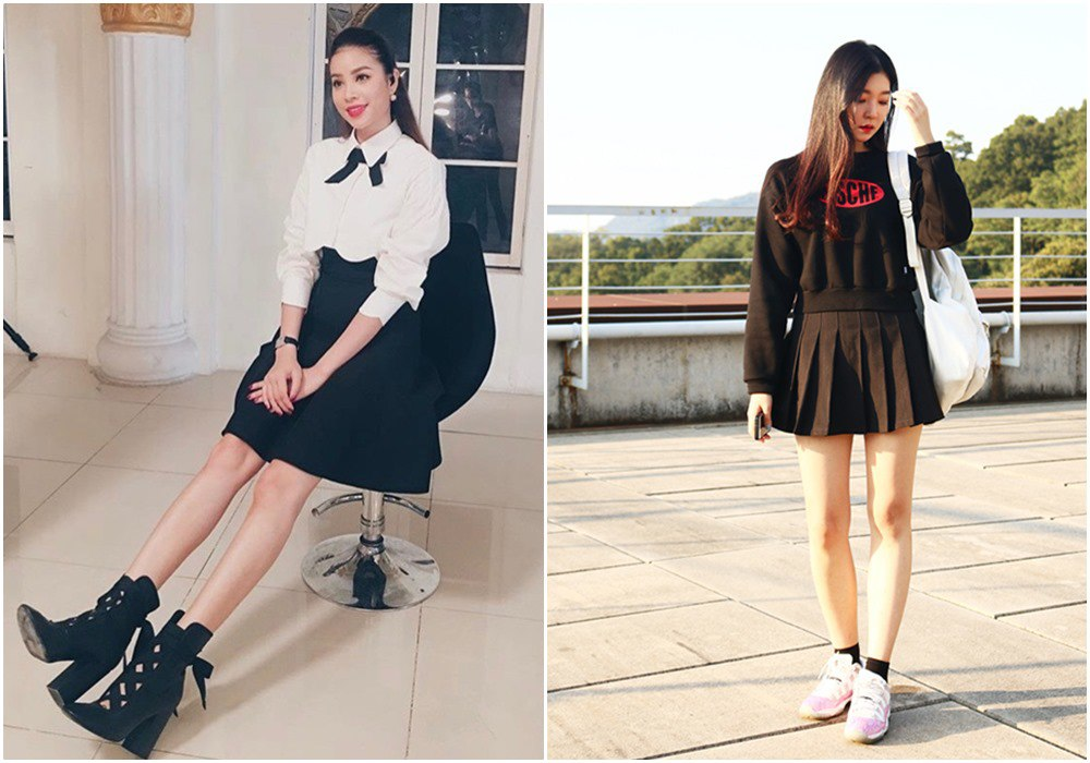 Đều U35, mỹ nhân Việt vẫn xúng xính váy áo nữ sinh: Elly Trần gợi cảm, Midu trẻ đáng gờm - 16
