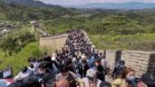 Kinh hoàng cảnh tượng du khách đổ về Vạn Lý Trường Thành dịp nghỉ lễ bất chấp dịch bệnh