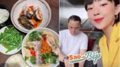 """Sao vào bếp: Tóc Tiên nấu canh cá măng chua đợi chồng về ăn, còn mắc """"bệnh trình bày"""""""