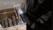 Cạy tấm lót dưới tủ đựng đồ lên, người phụ nữ phát hiện cảnh tượng như phim kinh dị