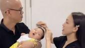 Phan Đinh Tùng cưới vợ mỹ nhân, con trai sinh ra tóc dày khác hẳn gen bố