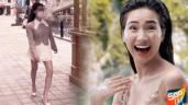 """Mẹ bỉm sữa xinh đẹp Hòa Minzy làm fan cười sặc với dáng đi 2 hàng, """"vựa muối"""" là đây!"""