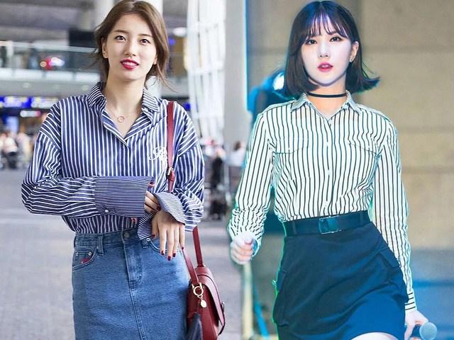 Tìm ra kiểu áo là bảo bối của các sao Hàn, ai mặc lên trông cũng vừa cao vừa gầy