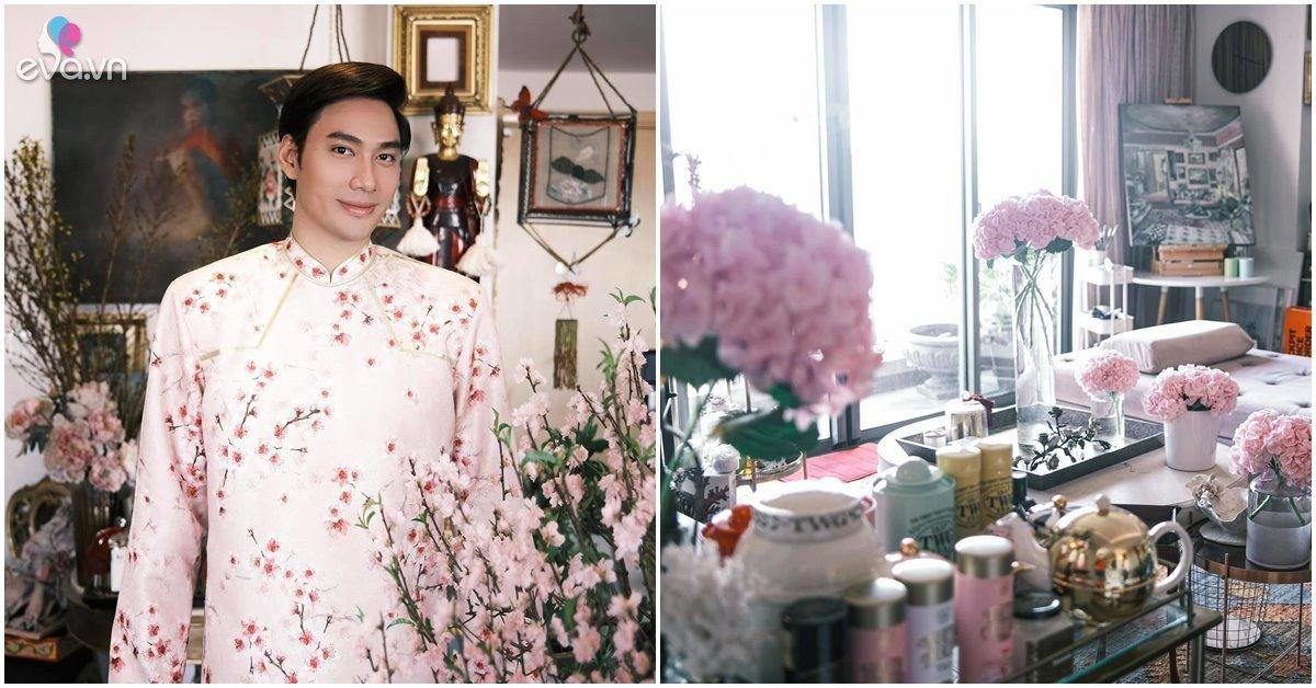 Nhà Celeb: Cháu trai gia tộc nức tiếng Việt Nam Lý Quí Khánh cắm hoa khắp nhà, ngắm mê mẩn