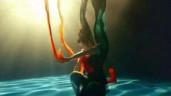 Điệu múa 'Lạc thần phi thiên' dưới nước gây sốt vì đậm chất tiên khí