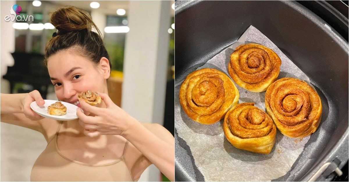 Sao vào bếp: Hồ Ngọc Hà lần đầu khoe làm bánh cho con trai Subeo, mẹ ruột khen nức nở