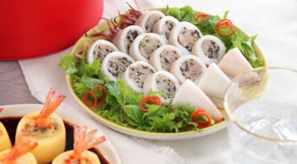Cách làm mực nhồi thịt hấp giòn ngon ăn mãi không ngán - 9