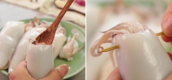 Cách làm mực nhồi thịt hấp giòn ngon ăn mãi không ngán - 6