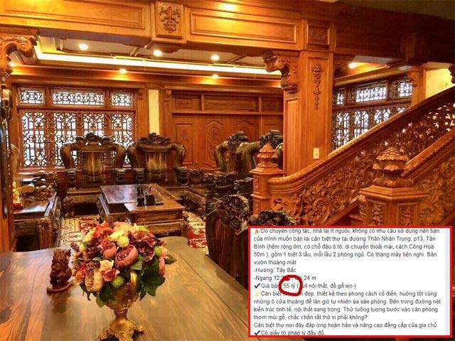 Cận cảnh căn biệt thự toàn đồ gỗ rao bán... 55 tỷ đồng khiến dân mạng tranh cãi gay gắt