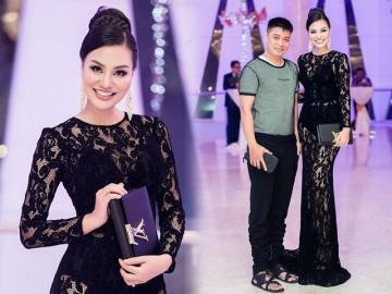 Nữ hoàng Trần Huyền Nhung gợi cảm, sang chảnh với đầm dạ hội của NTK Tuấn Hải