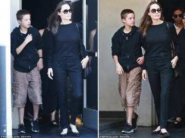 """Mới 12 tuổi nhưng cô con gái tomboy Shiloh của Angelina Jolie đã """"trổ mã"""" cao gần ngang ngửa mẹ"""