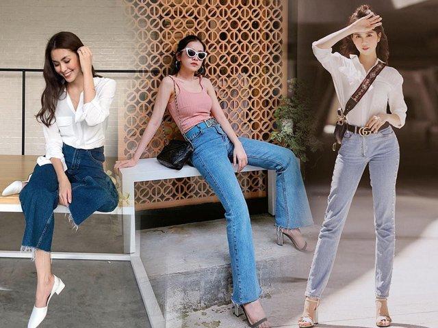 Hóa ra, Hà Tăng vẫn thích diện quần jeans theo công thức quen thuộc mà cực hiệu quả