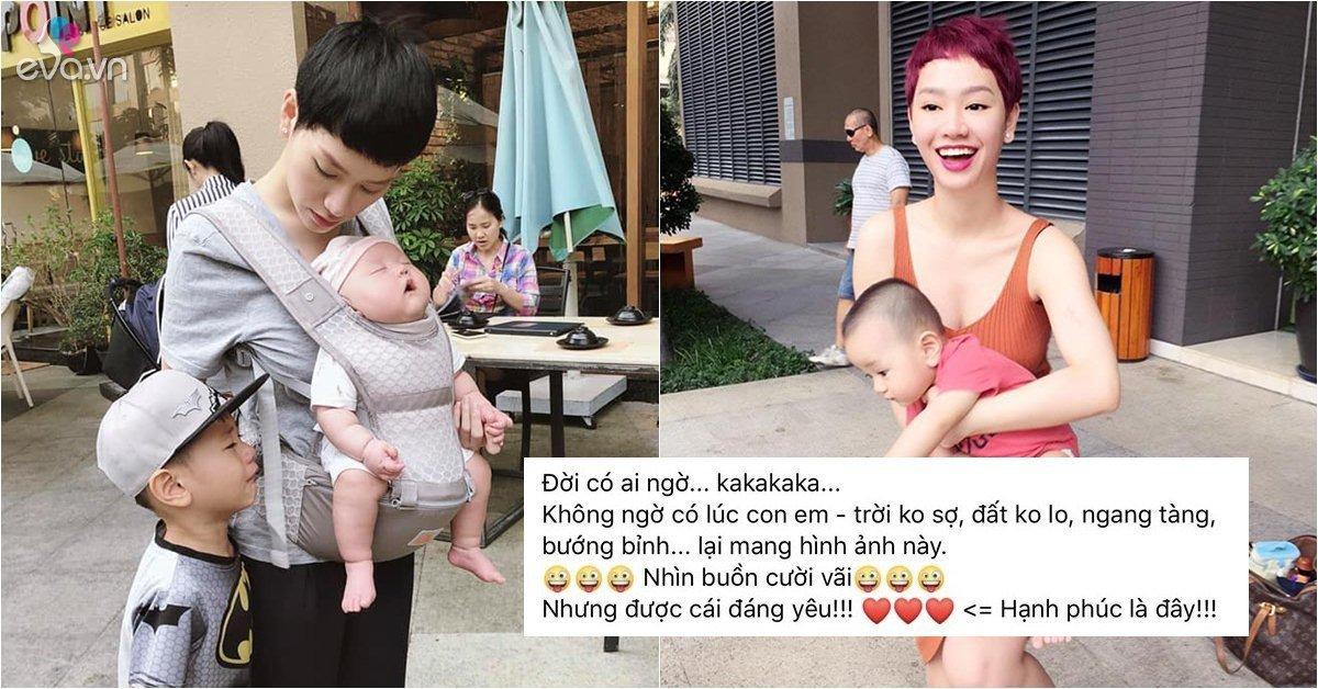 Sao Việt 24h: Dàn nghệ sĩ phát sốt với cảnh lếch thếch 1 nách 2 con của Trà My Idol-Ngôi sao