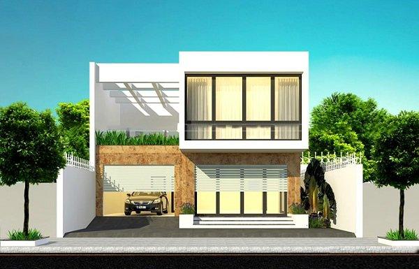 15 mẫu nhà 2 tầng hình vuông đẹp miễn chê, nhà đông người vẫn rộng thoải mái - 3