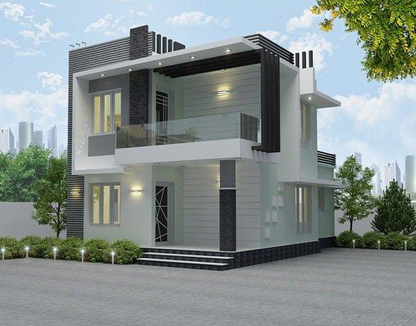 15 mẫu nhà 2 tầng hình vuông đẹp miễn chê, nhà đông người vẫn rộng thoải mái - 6