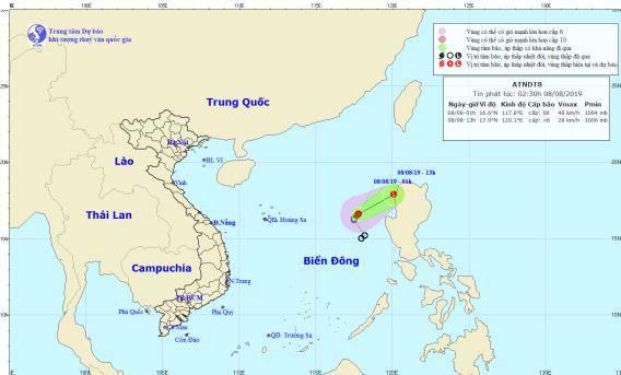 Thời tiết ngày 8/8: Áp thấp nhiệt đới suy yếu, Hà Nội có mưa dông và gió giật mạnh