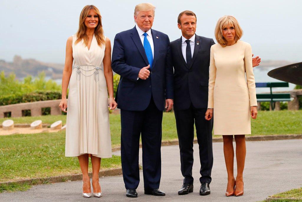 """Ngày thường ăn diện rõ """"chặt chém"""", sao đệ nhất phu nhân Pháp vẫn lép vế trước bà Melania Trump?"""