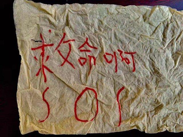 "mot loat mau giay ghi chu ""cuu voi"" roi xuong san chung cu, nguoi dan nga ngua truoc su that - 4"