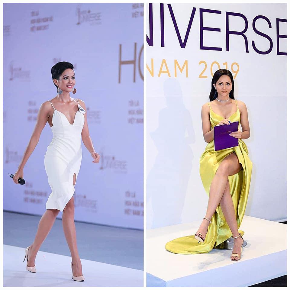 "dang anh cham thi miss universe vietnam 2019, h'hen nie lo dang mum mim, ""dap tan"" tin don nang nguc - 9"