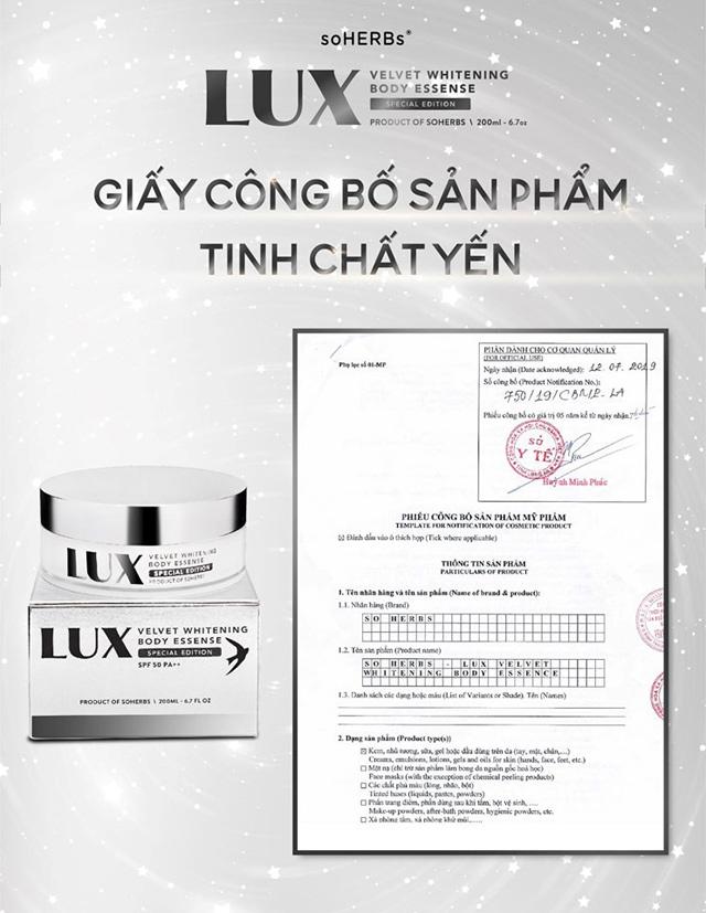 Giải mã sức hút dưỡng trắng từ tinh chất yến Lux Velvet Body Essence - 4