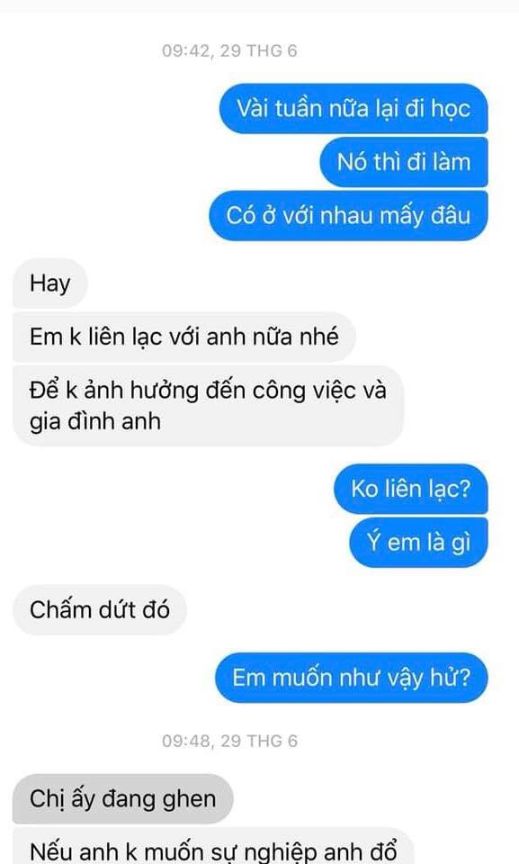 "lo tin nhan cua ""tieu tam"" voi chong, chi em doc ma khong khoi ""soi mau"" - 1"