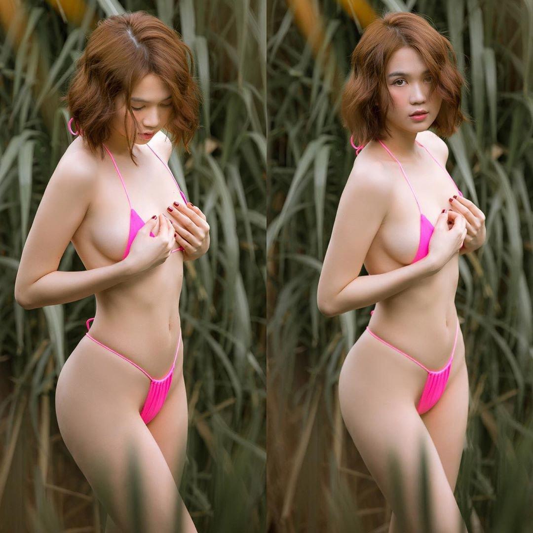 "ngoc trinh khong ""coi"", khong dien noi y van gay sot cdm vi so do vong eo be ki luc - 14"