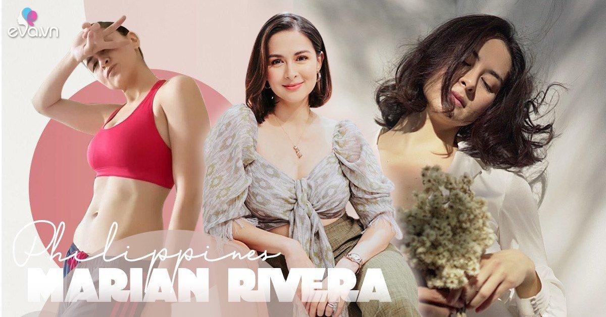 Là đại mỹ nhân Philippines, mẹ 2 con Marian đẹp hoàn hảo, chị em U40 phải học hỏi