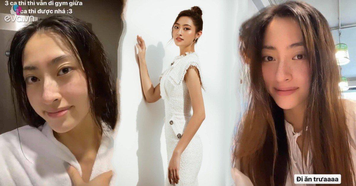 Đang mùa thi cử mà sợ béo, Lương Thuỳ Linh chăm chỉ tranh thủ ca trưa trốn đi tập gym
