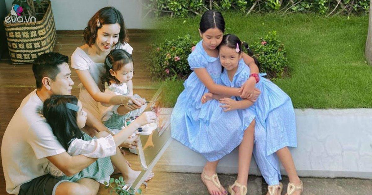 Bằng tuổi nhau, hai công chúa nhà Hồ Hoài Anh-Lưu Hương Giang được sắm toàn đồ đôi xinh xắn