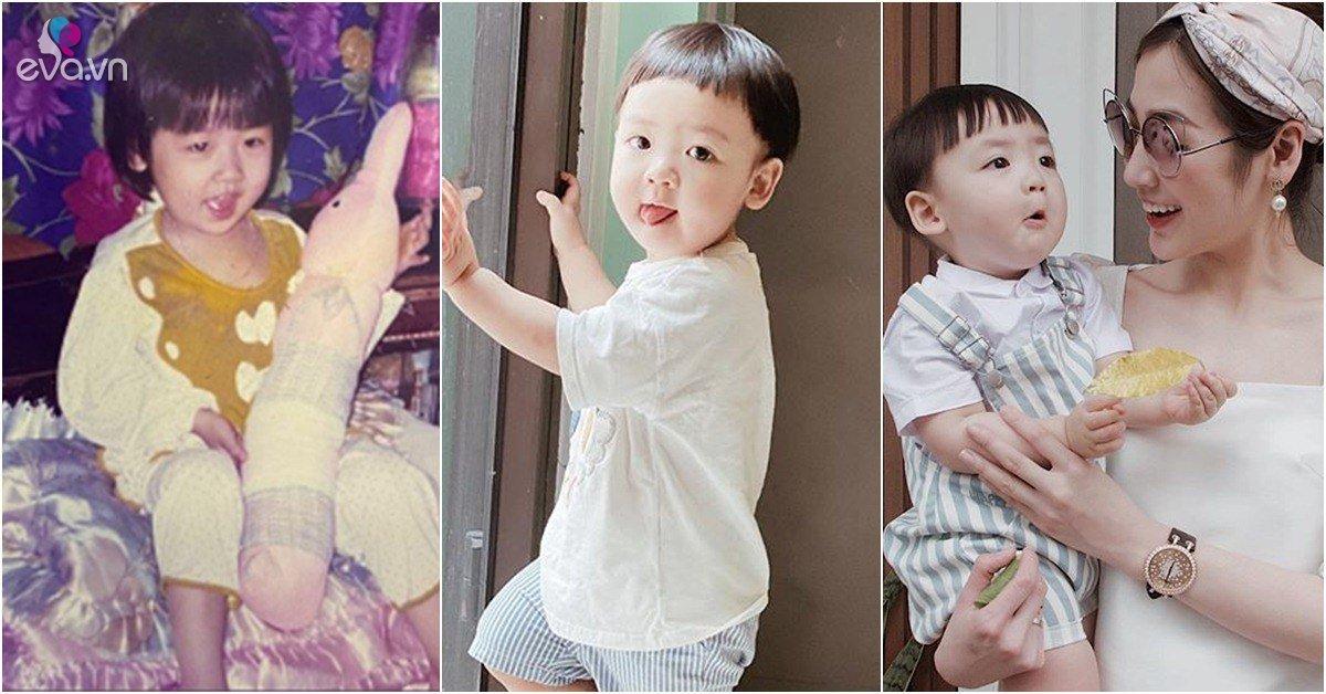 Á hậu Tú Anh đăng ảnh chứng minh con trai xinh là giống mẹ, né được kiếp đẻ thuê