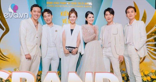Vợ chồng Trấn Thành cùng hội bạn thân mặc đồ trắng dự khai trương Bệnh viện JT Angel