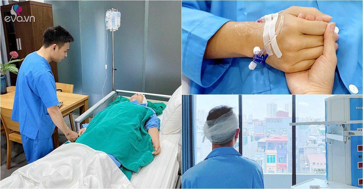 Sao Việt 24h: Đăng Khôi phẫu thuật lần 2 sau ca mổ nghiêm trọng 10 năm trước, vợ òa khóc