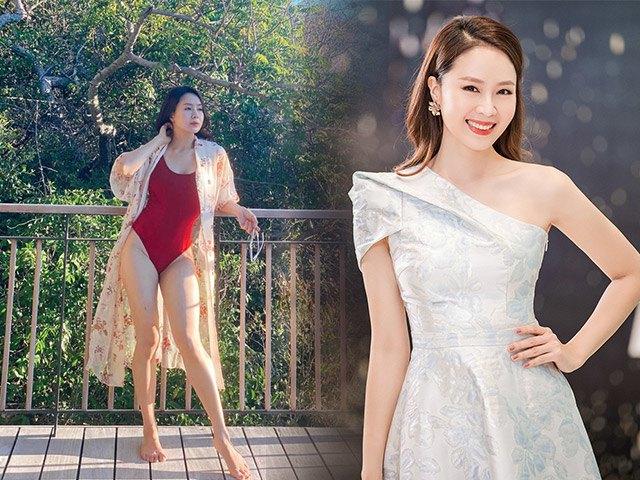 Lên sóng với bikini, Hồng Diễm vô tình để lộ rõ nhược điểm đùi ếch do tăng cân