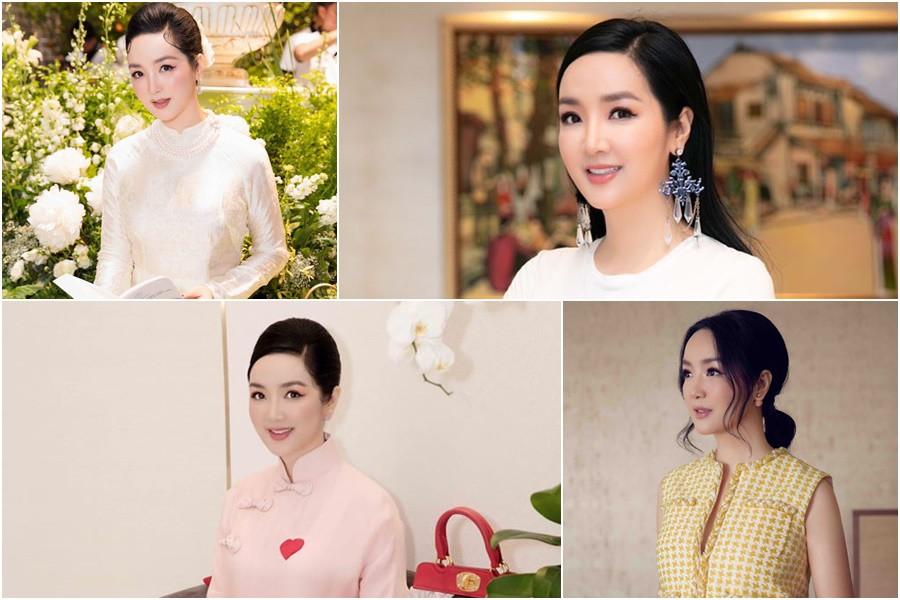 "hoi my nhan chau a so huu nhan sac ""ngung dong"" thoi gian: vbiz cung co 2 hoa hau - 20"