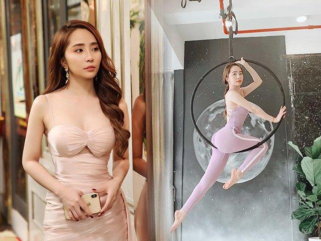 Khoe hình tập luyện trên không với body hoàn hảo từng centimet, Quỳnh Nga được khen đẹp như chị Hằng