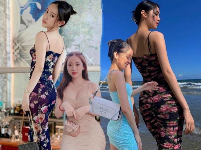 Đụng hàng váy hoa, hot girl Thúy Vi bị em gái Ngọc Trinh lấn át