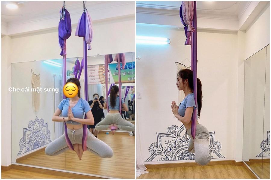 Khổng Tú Quỳnh nhập hội mê yoga bay, bảo sao dáng nuột nà, vòng 3 quả táo đẹp mê - 7